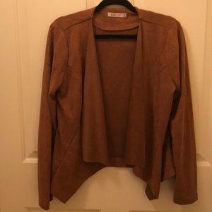 Western micro suede fringe jacket M
